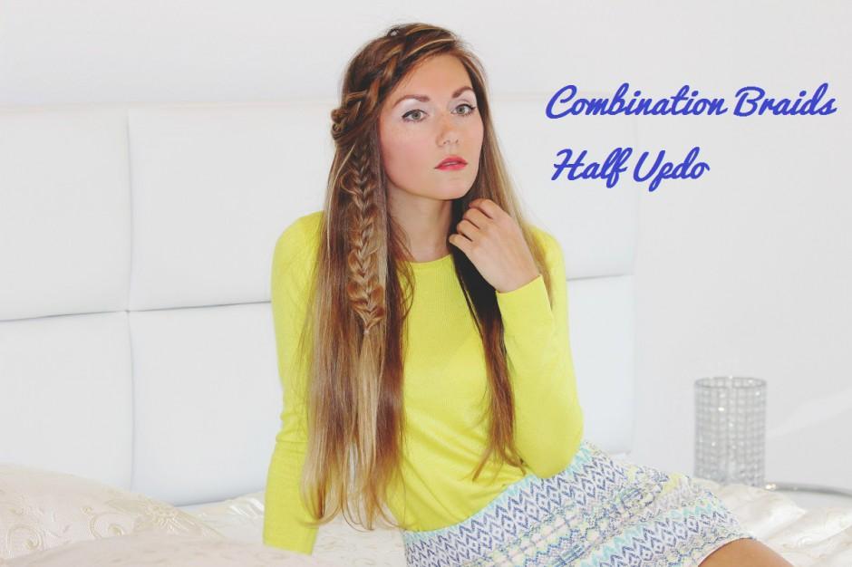 Combination Braids Half Updo Skinnycature